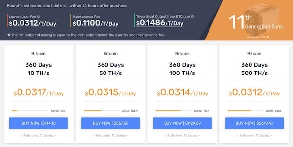 Bitcoin cryptocurrency cloud mining